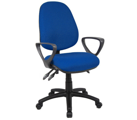 Task & operator seating Vantage 200 fabric operator chair with fixed arms