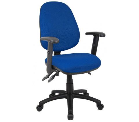 Task & operator seating Vantage 200 fabric operator chair with adjustable arms