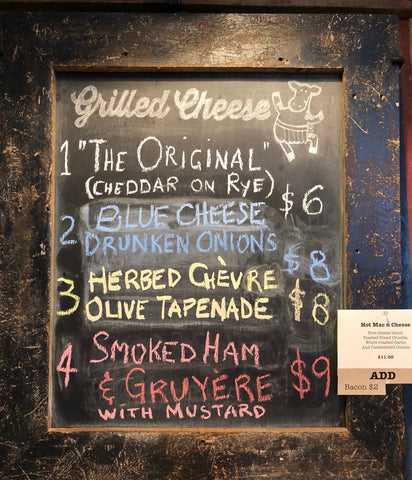 Grilled Cheese Menu