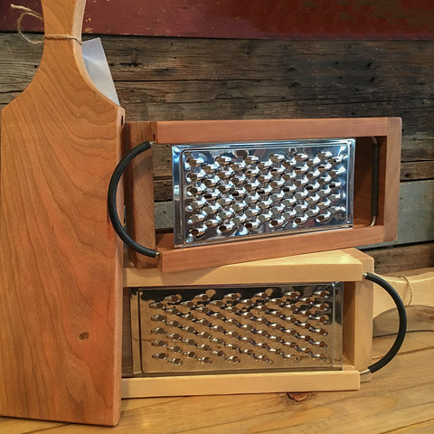 Wooden Box Cheese Grater