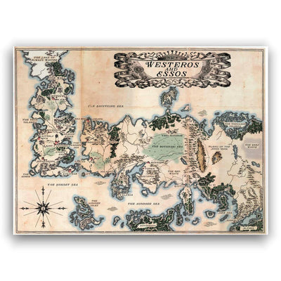 Mapa de Game of Thrones - Lámina