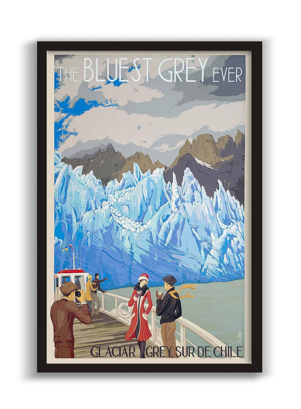 The Bluest Grey Ever / Glaciar Grey - Enmarcado