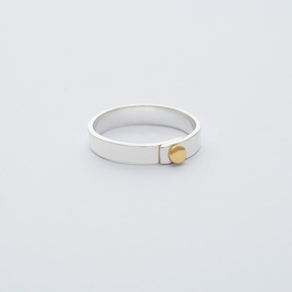 'Dot Band' Ring 9ct Rose Gold & Silver OR 18ct Gold & Silver
