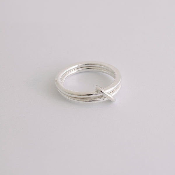 'Douple Up' Silver Ring