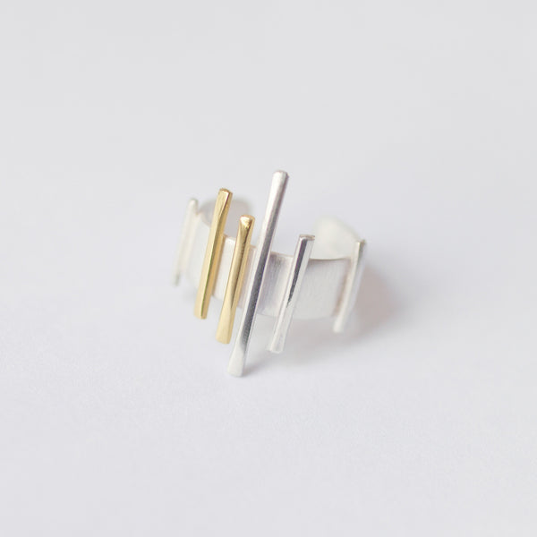 'Ew Sticky' 18ct Gold & Silver Ring