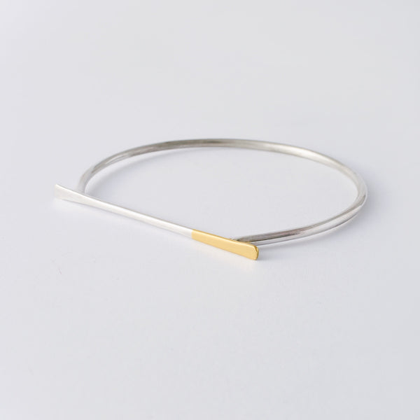 'Baaaaa' 18ct Gold & Silver Bangle