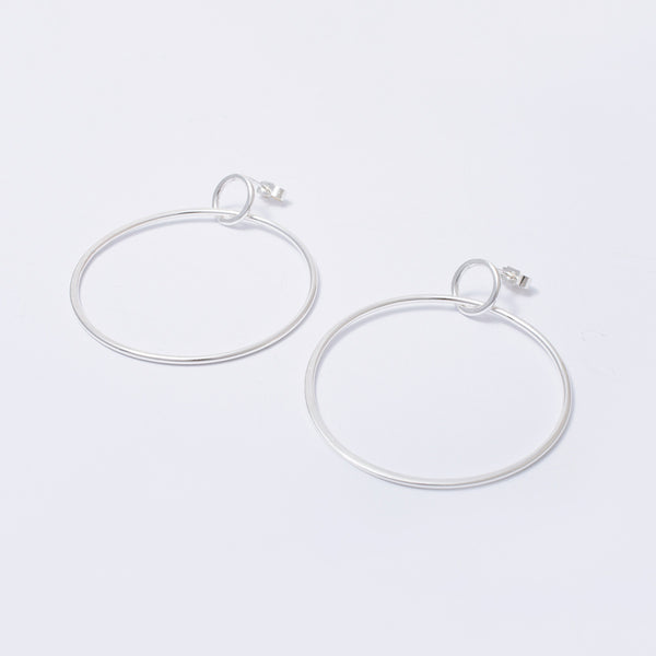 'Big Hoop Little Hoop' Silver Earring