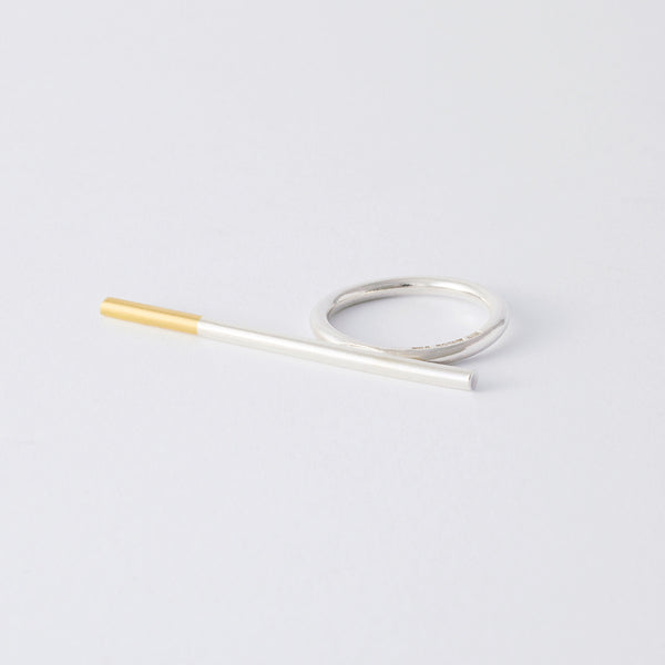 'Ciggie' 18ct Gold & Silver Ring