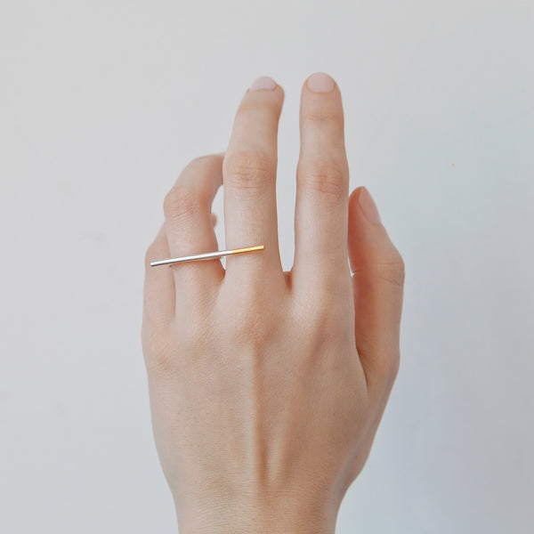 NEW 'Ciggie' 18ct Gold & Silver Ring