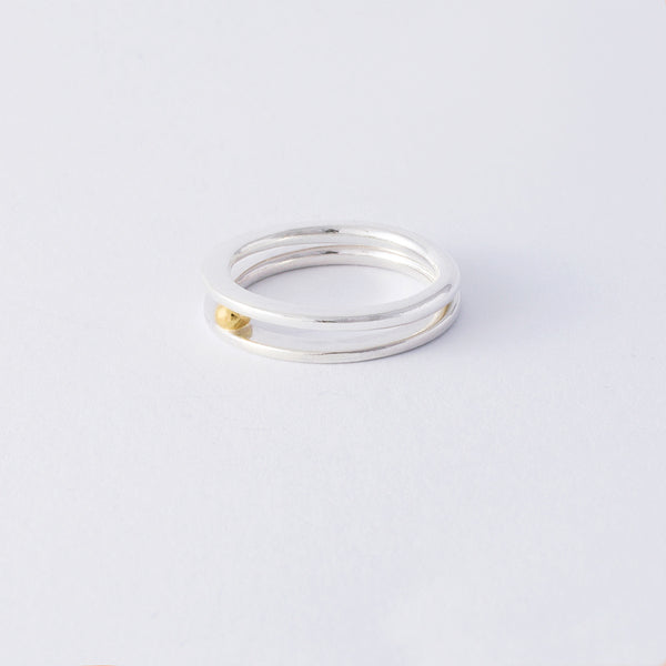 'Double Bubble' 2 Part Ring