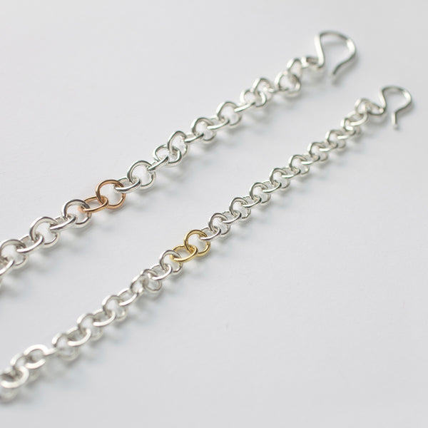 'Loopy Rose' 9ct Rose Gold & Silver Chunky Bracelet