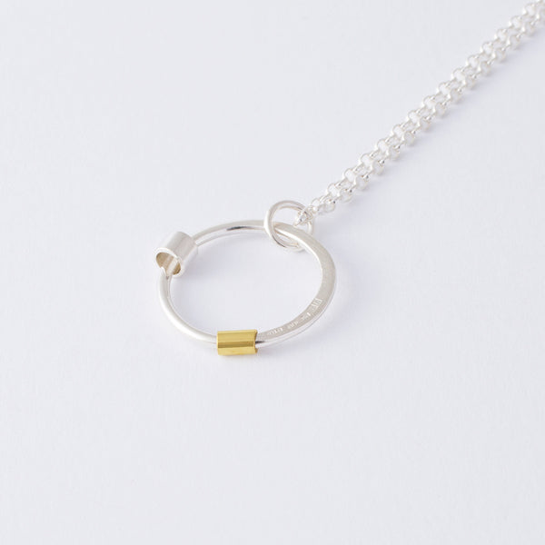 'Move Me' 18ct Gold and Silver Necklace