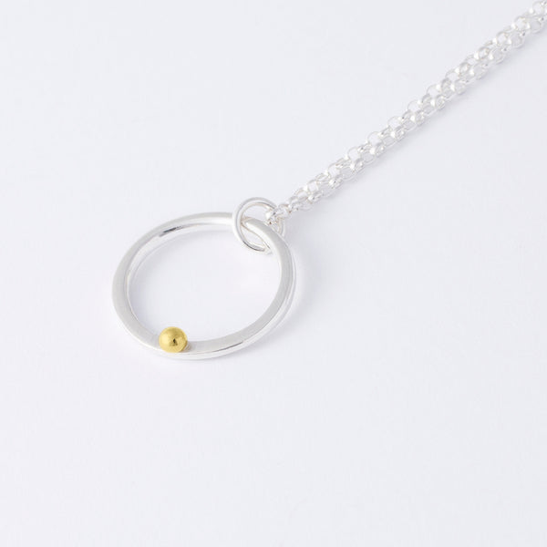 'Oh Bubble' 18ct Gold & Silver Necklace