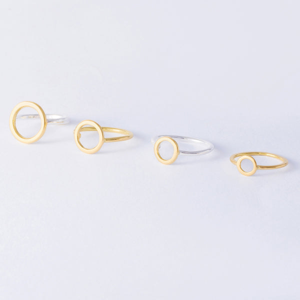 'Oh Mini Yellow' 18ct Gold & Silver Ring