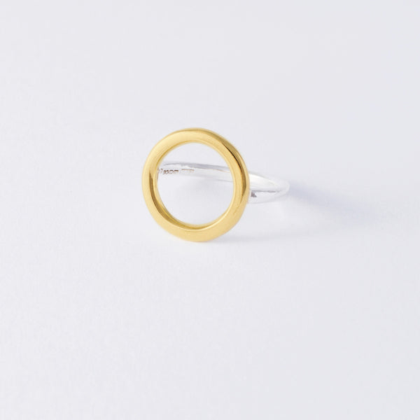 'Oh M Gee Yellow' 18ct Gold & Silver Ring