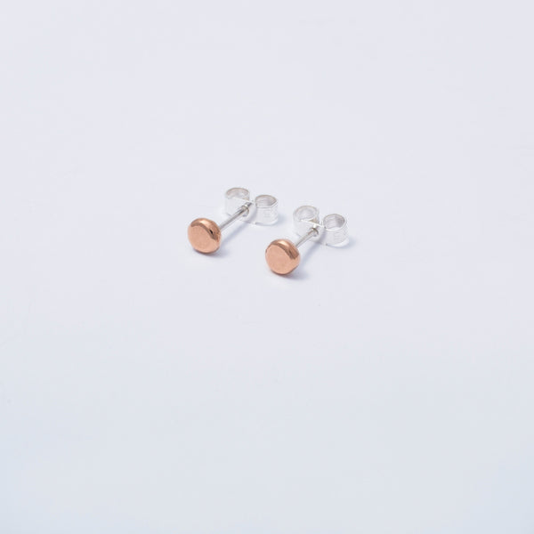 'Rose Dot and Hoop' 9ct Rose Gold and Silver Hoop Earrings (Wear Me 2 Ways)