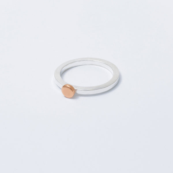 'Dot Rose' 9ct Rose Gold & Silver Ring