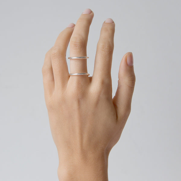 'Silver You Drive Me Loopy' Ring