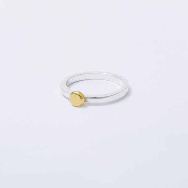 'Dot Yellow' 18ct Gold & Silver Ring