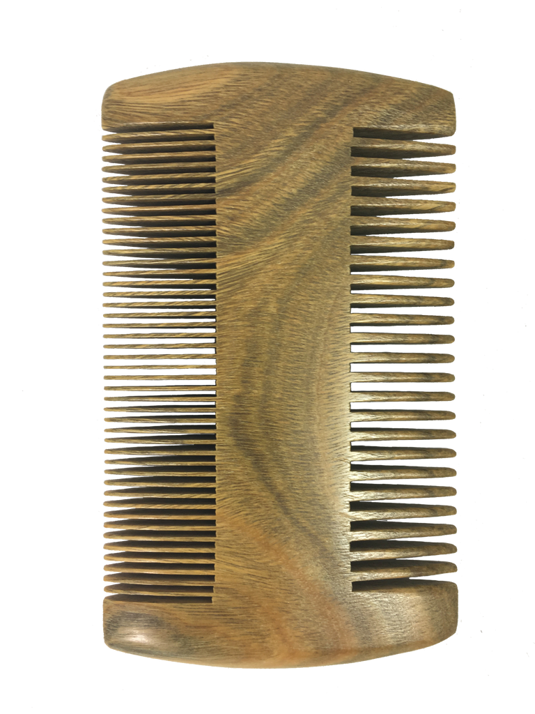 Perfect pocket size beard comb.  Hand made from Sandalwood.