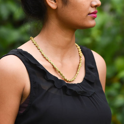Dokra Necklace Interwine