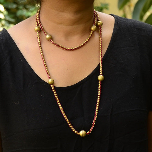 Dokra Necklace Long 2