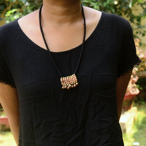 Dokra Necklace Pendant Black