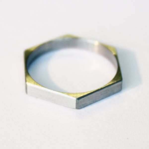 Stainless Hexagon Ring