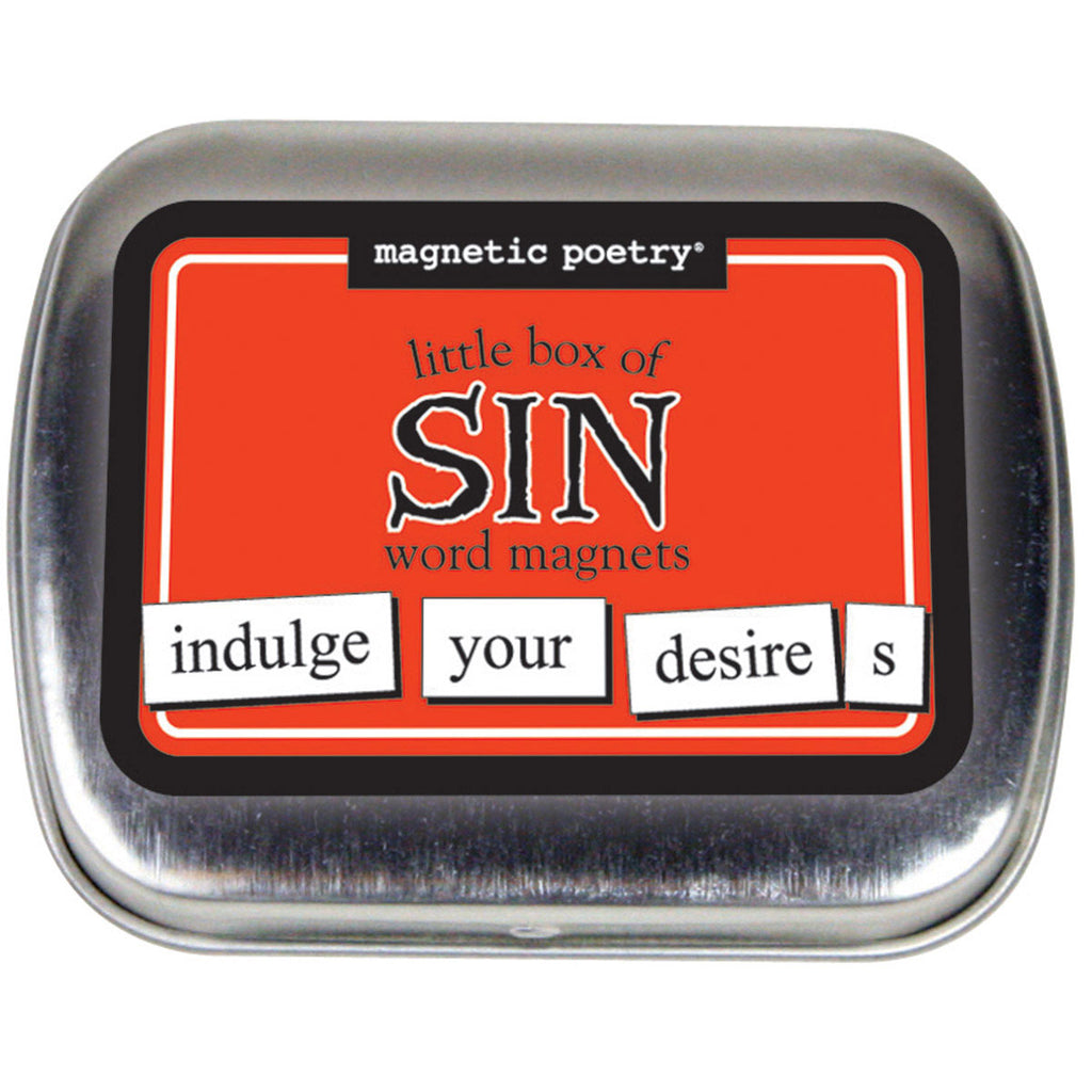 Little Box of Sin Word Magnets