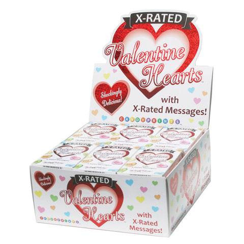 Valentine X-Rated Hearts Candy - 24pc Display