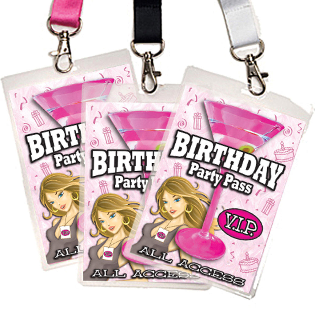 Birthday Party VIP Pass/Dare Game