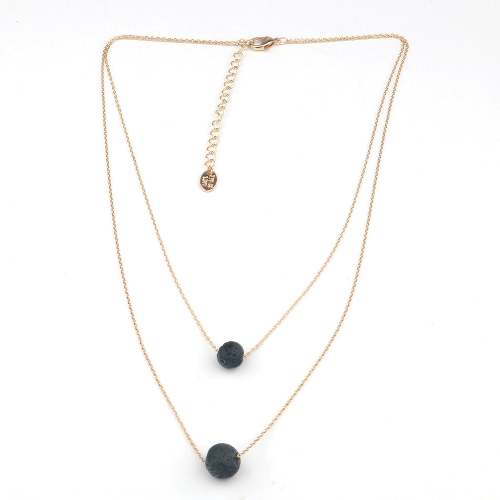 Eye of Love 2-Layer Necklace - Gold