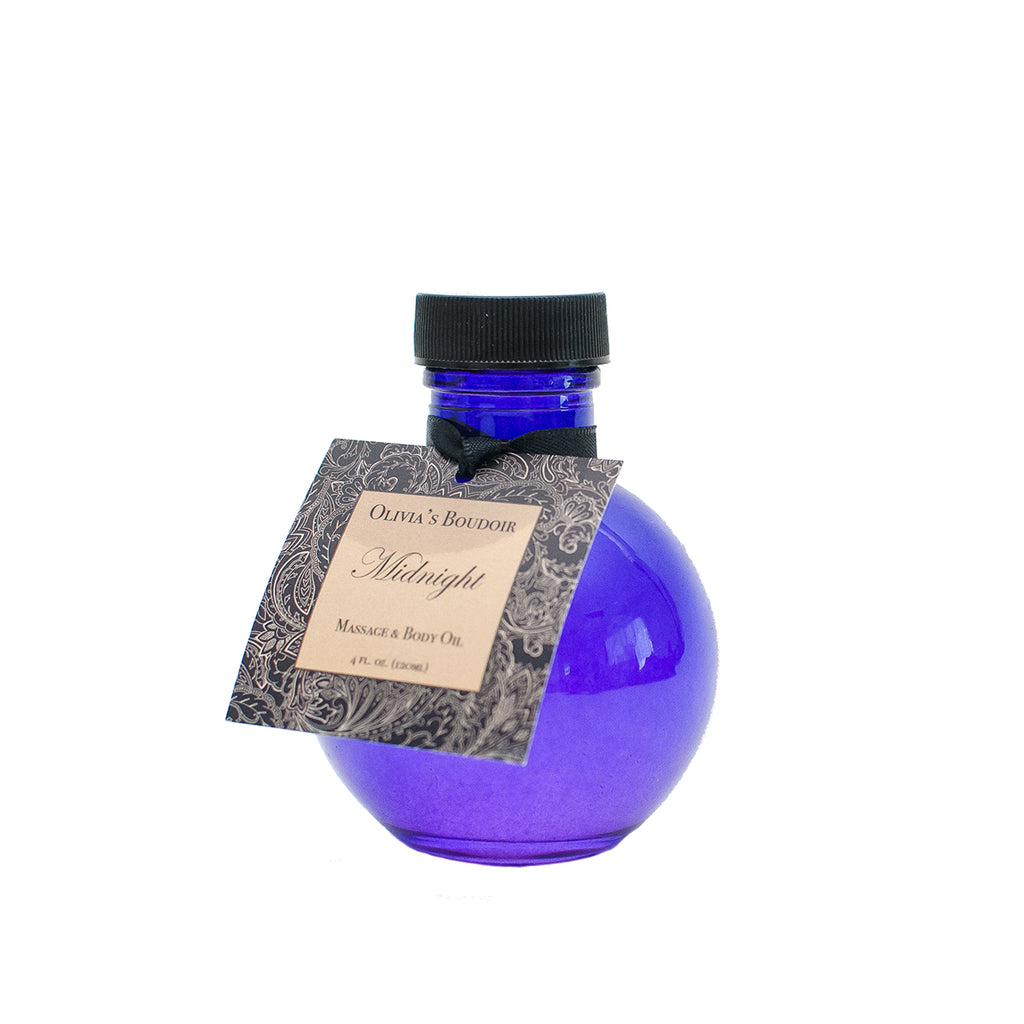 Olivia's Boudoir Massage Oil Midnight 4oz.