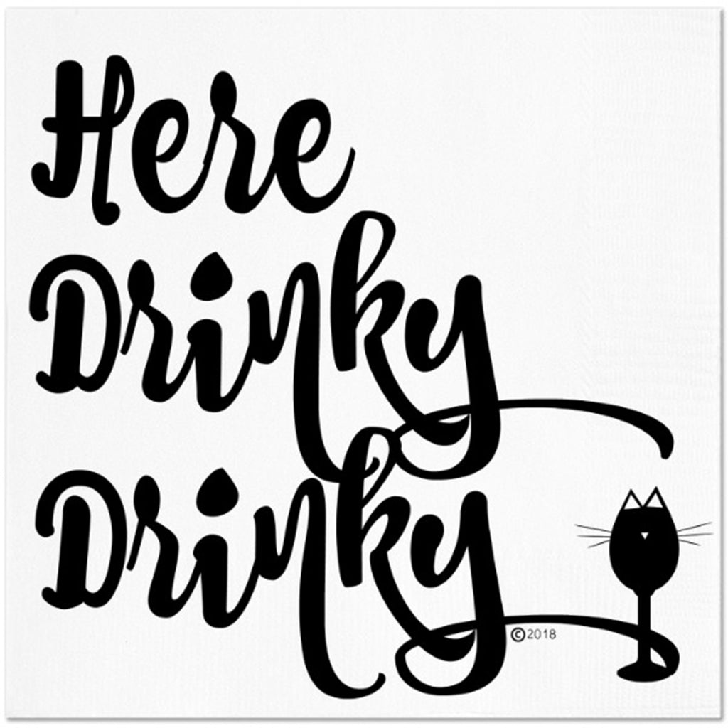 Twisted Wares Here Drinky Drinky Napkins 20pk