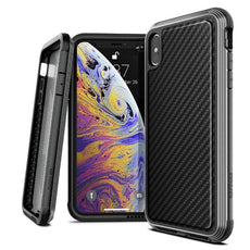 Capa iPhone Xs Max X-Doria Defense Lux Fibra de Carbono