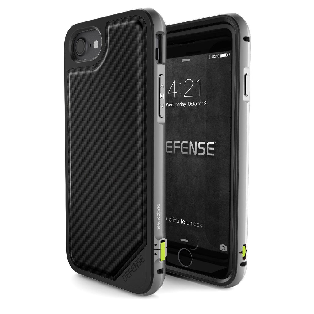 Capa iPhone 7 e 8 Defense Lux Fibra de Carbono X-Doria