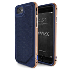 Capa iPhone 7 e 8 Original X-Doria Defense Lux Azul