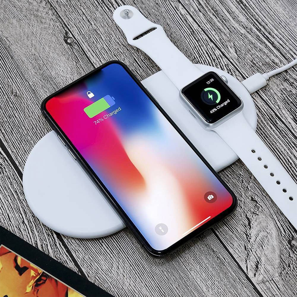 Carregador iPhone Apple watch Sem Fio Wireless 2 em 1 Air Power Charger