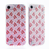 Capa iPhone 6/6S/7/8 Original Feminina Personalizada Red Leaves Casestudi