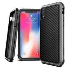 Capa para iPhone Xr Defense Lux Fibra de Carbono X-Doria Original