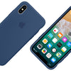 Capa para iPhone X Original Silicon Case Azul Cobalto