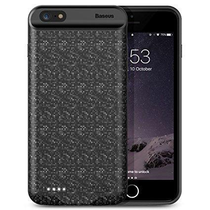 Capa Carregadora Baseus Plaid 7300 Iphone 6/6s Plus