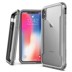 Capa Anti Impacto iPhone X Defense Shield Alumínio Usinado Original X-Doria Prata