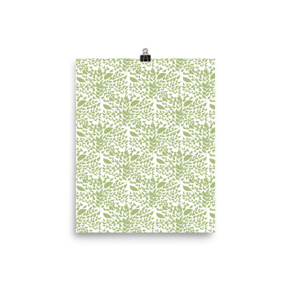 Green Plant Pattern Poster