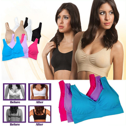 ***2017 Hot Selling TV Products*** Comfortable Seamless Wireless Bra Sale (3pcs/set)