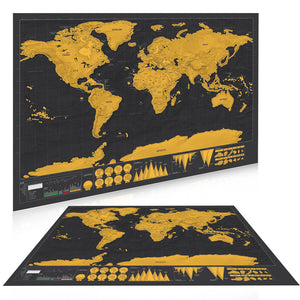 GLOBETROTTER SCRATCH OFF WORLD MAP - Limited Edition