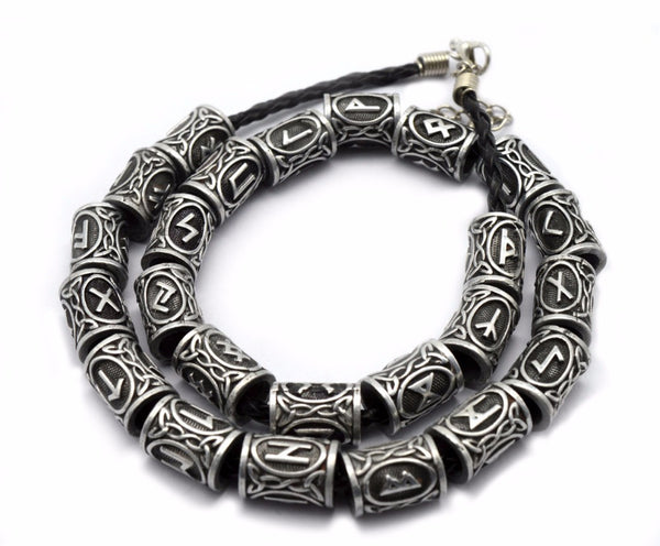 Viking Rune Hair/Beard/Bracelet Beads