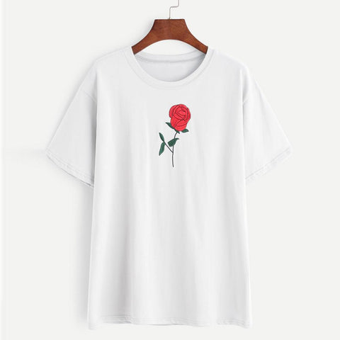 Image of Embroidered Rose Top