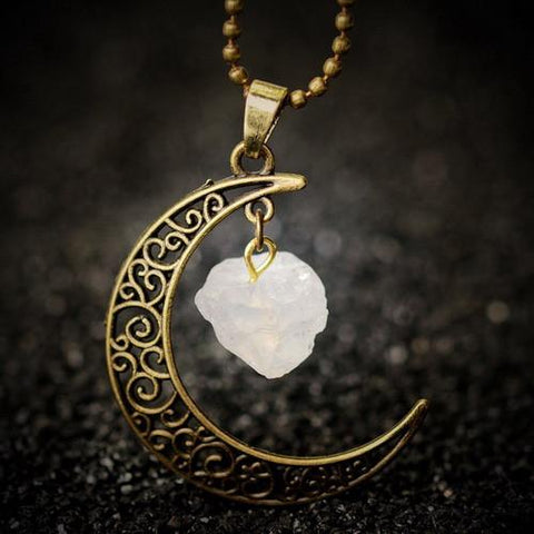 Image of Moon Crystal Necklace