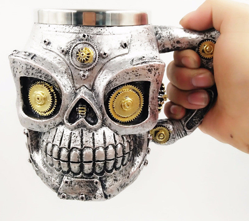 Mechanic Steampunk Skull Mug